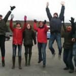 Katharine Gray friends jumping