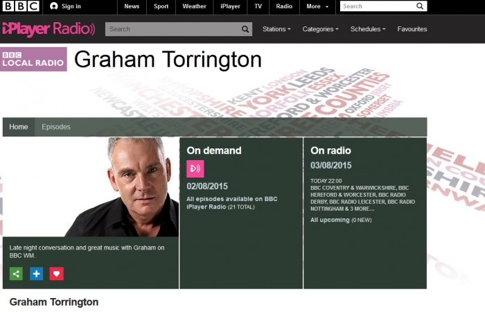 Katharine Gray is interviewed on Radio WM by Graham Torrington – 1st June 2015