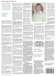 Katharine Gray – friendsfirst Director featured in back page interview of Church Times – 11th May 2012
