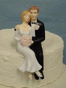 Stephanie and James Bride and Groom Cake