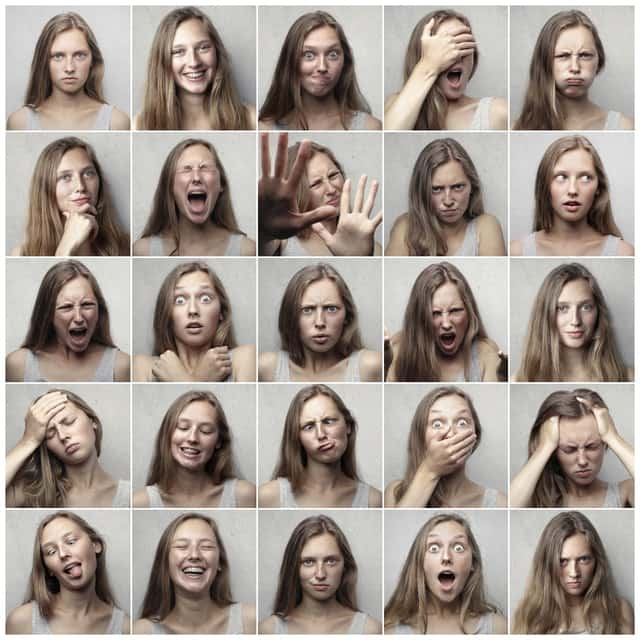 Image shows Emoticons reflecting many types of emotions