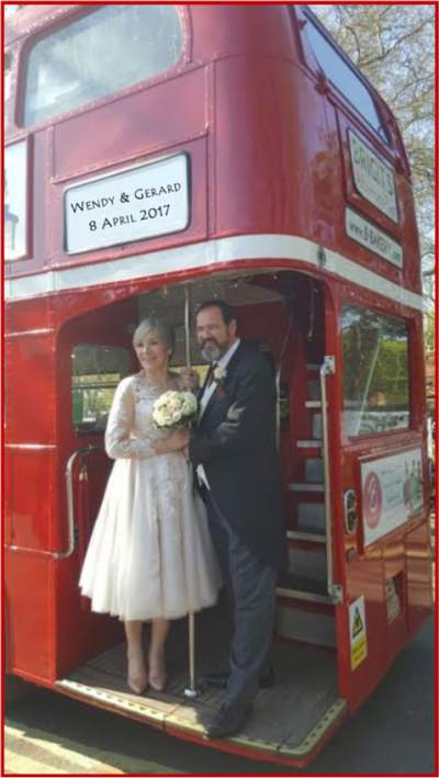 Fulham Palace bus for friends1st couple